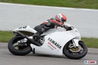 Former Canadian National and AMA Pro 260 G.P. star Darrell Cooney, an occasional CSBK National Staffer, has already clinched his VRRA Title aboard a Yamaha TZ250. [Photo: Colin Fraser]