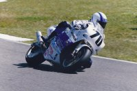 At the 1990 Daytona 200, Miguel Duhamel made his AMA Pro Superbike Feature class debut for Yoshimura-Suzuki. [Photo: Colin Fraser]
