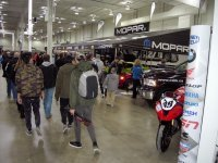 Saturday at Motorama was busy, as this shot of the Mopar Booth at the International Centre indicates. [Photo: Colin Fraser]
